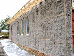 ЭКОВАТА-КРАСНОДАР. Утепление стен дома, теплоизоляция эковатой.